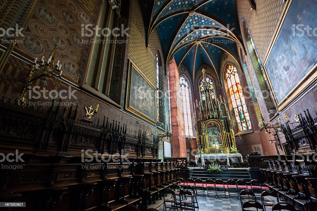 St. Francis of Assisi in Krakow, Poland stock photo