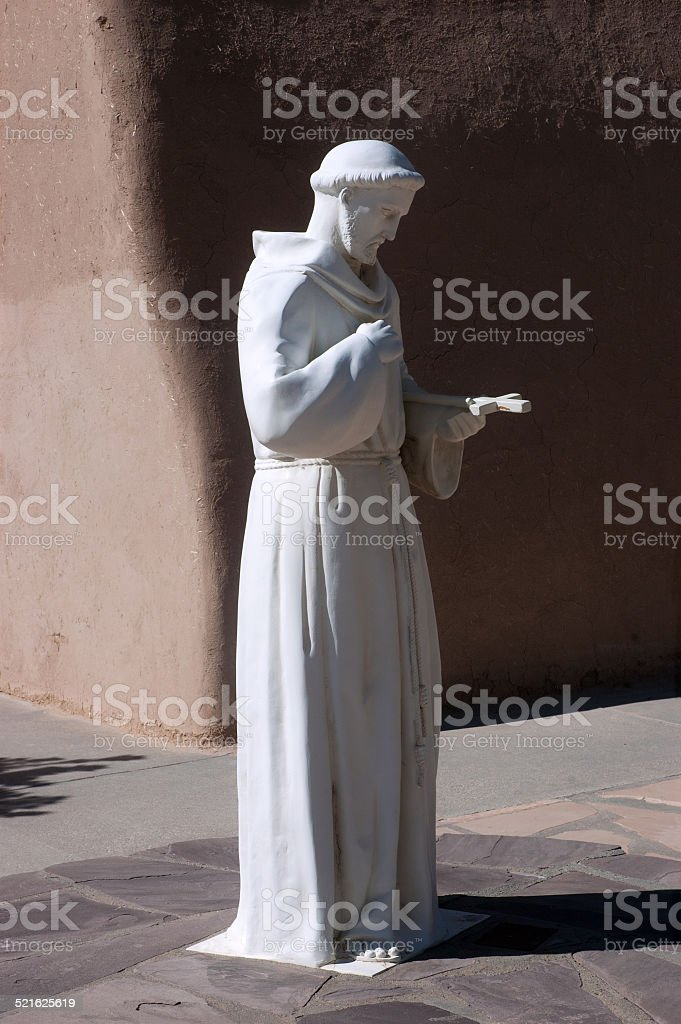 St. Francis of Assisi statue stock photo