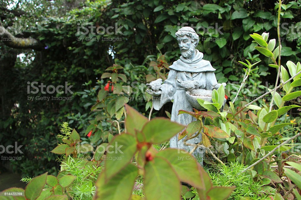 St, Francis of Assissi Statue stock photo