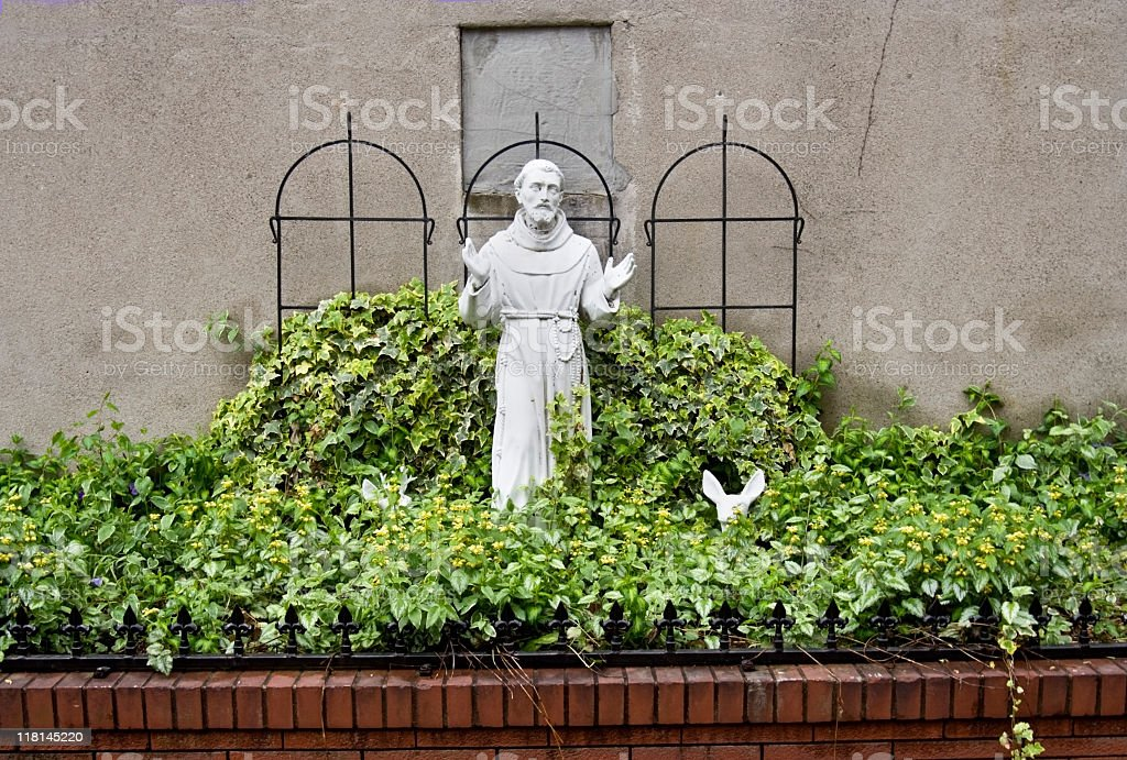 St. Francis Statue royalty-free stock photo