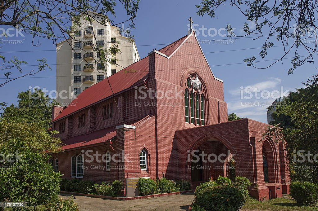 St Gabriel church in Ragoon, Myanmar stock photo