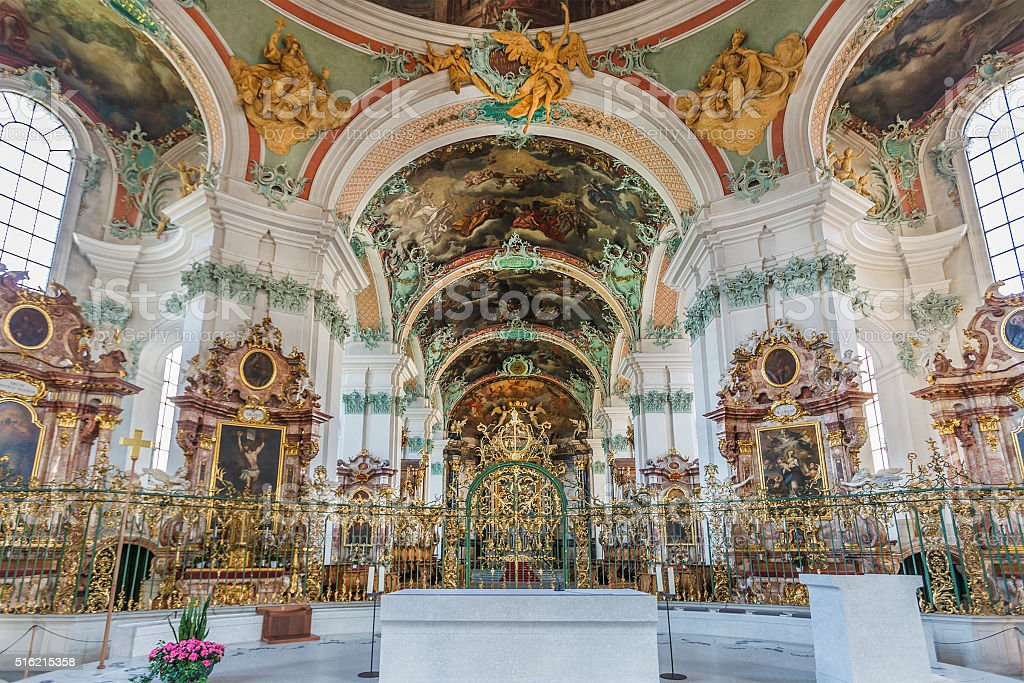St. Gallen, St Gall Cathedral - Switzerland stock photo
