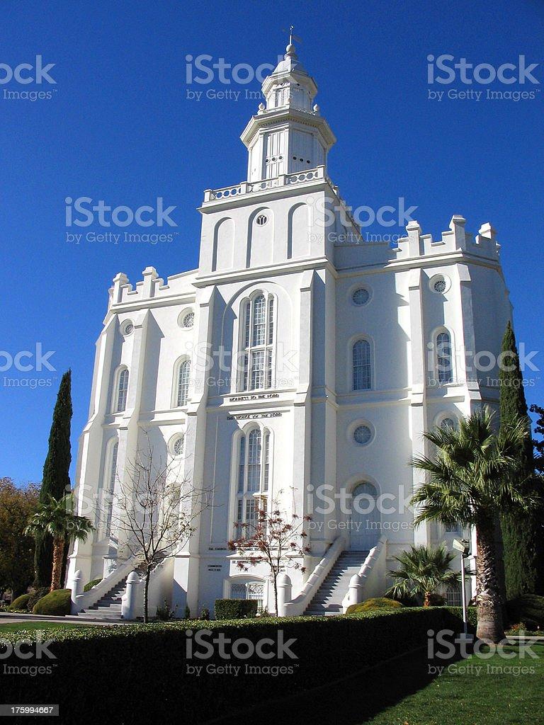 St. George Temple stock photo