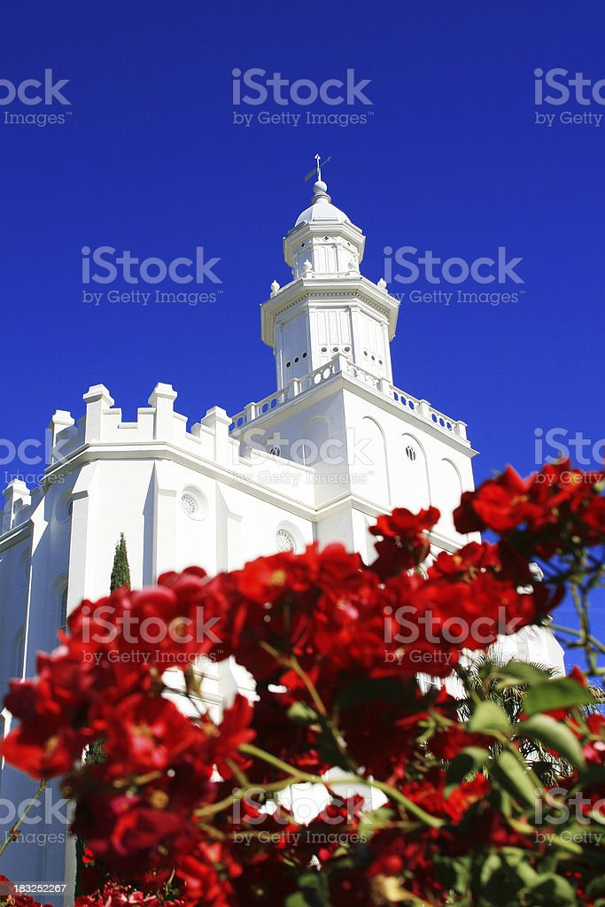 St. George Temple stock photo