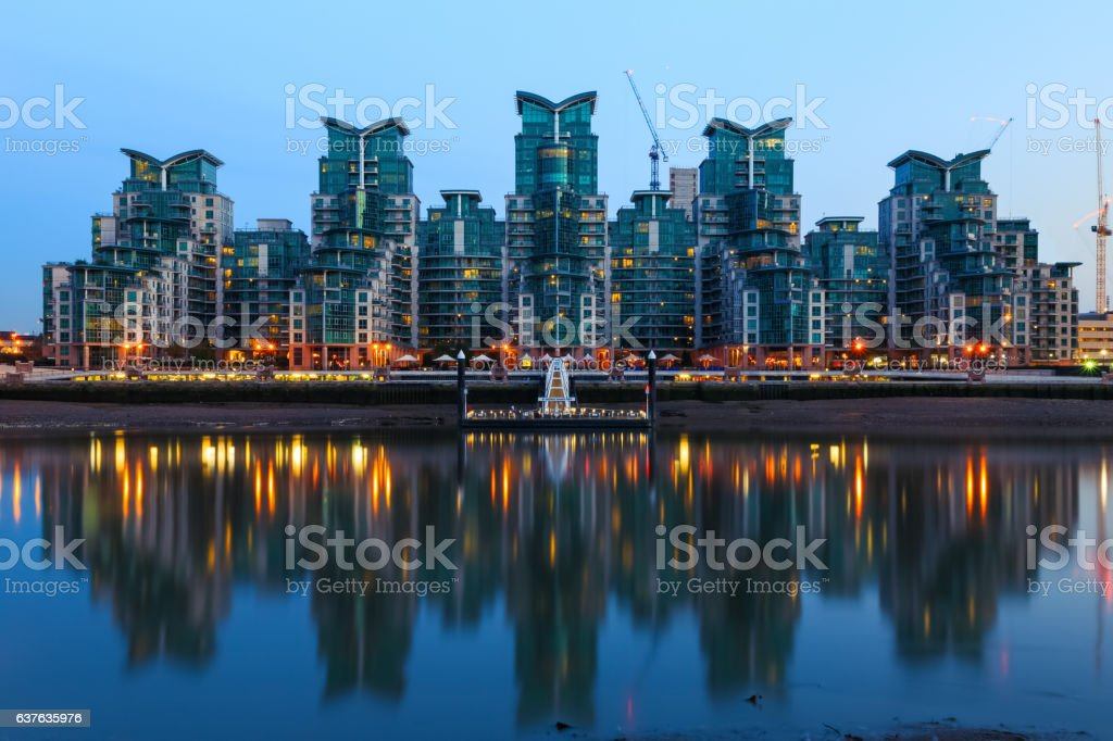 St George Wharf in London stock photo