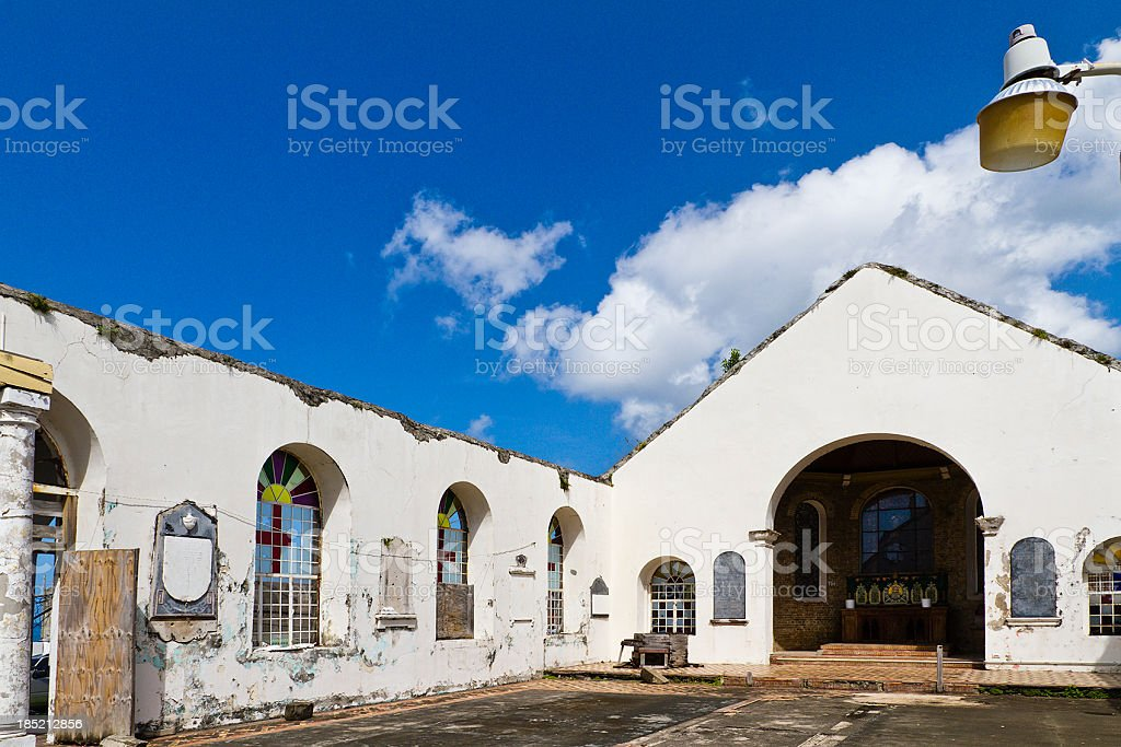 St. George's Anglican Church, Grenada W.I. royalty-free stock photo