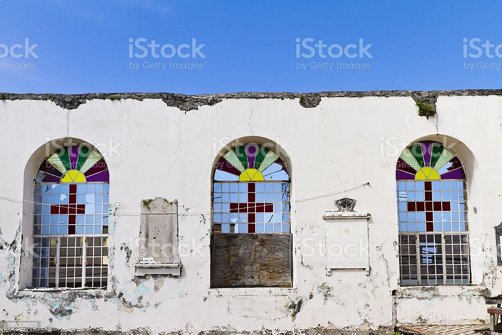 St. George's Anglican Church, Grenada W.I. stock photo