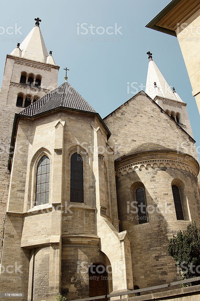 St. George's Basilica in Prague royalty-free stock photo