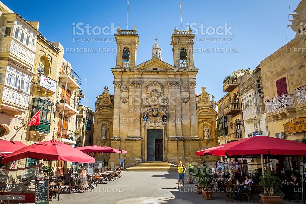 St. George's Basilica, Victoria, Gozo, Malta stock photo