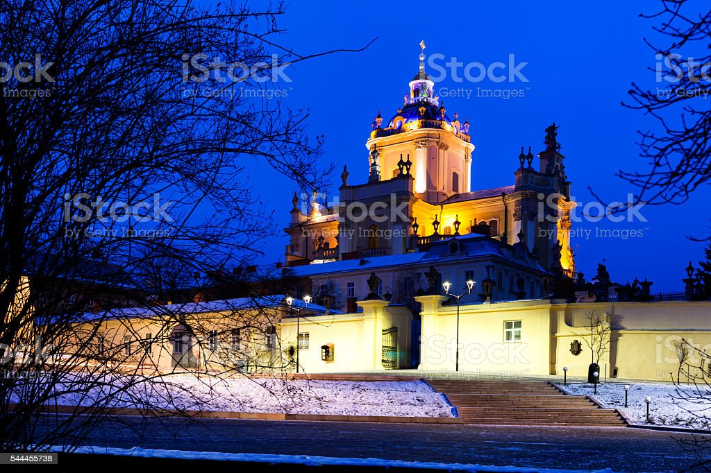 St. George's Cathedral, Lviv, Ukraine stock photo