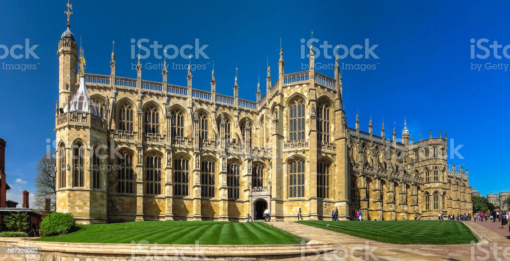 st. George's Chapel at Windsor Castle. England stock photo