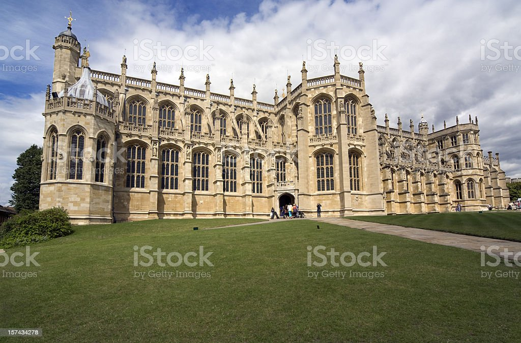 St George's Chapel, Windsor Castle royalty-free stock photo