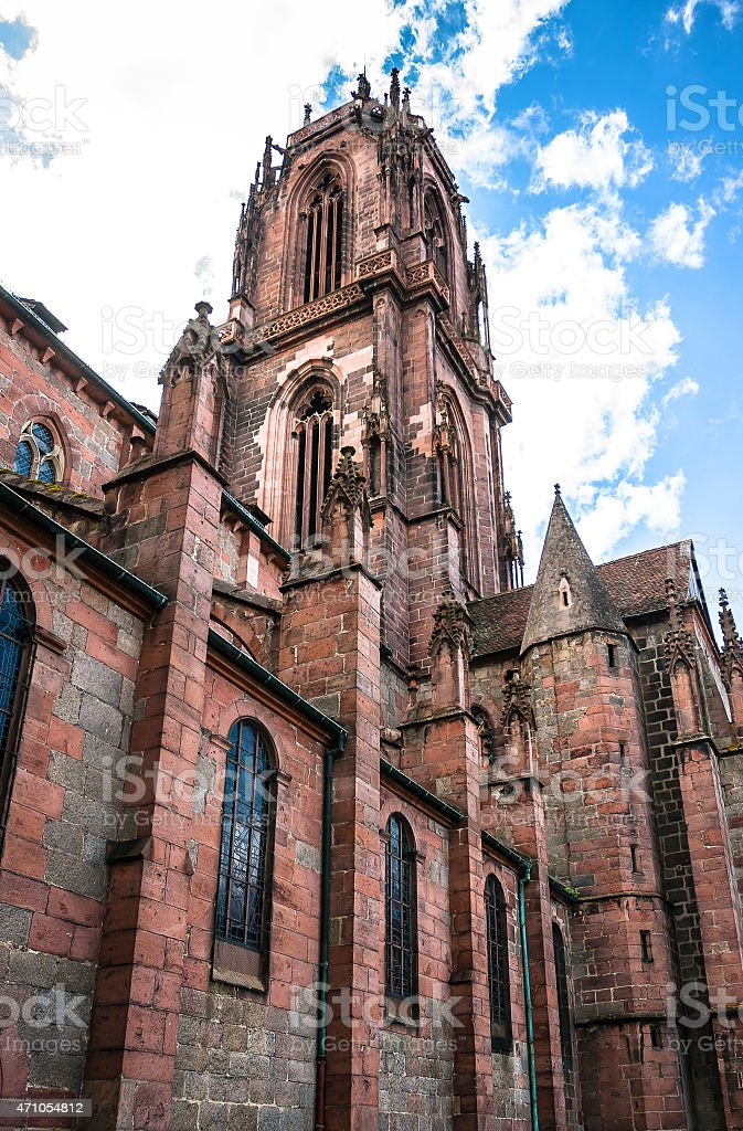 St. Georges Church in Selestat, Alsace, France stock photo