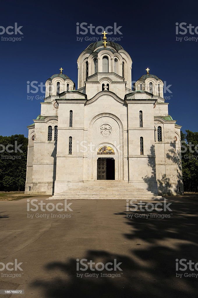 St George's Church in Topola royalty-free stock photo