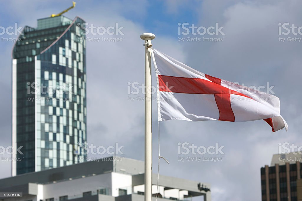 St George's Cross and new office building, Liverpool royalty-free stock photo