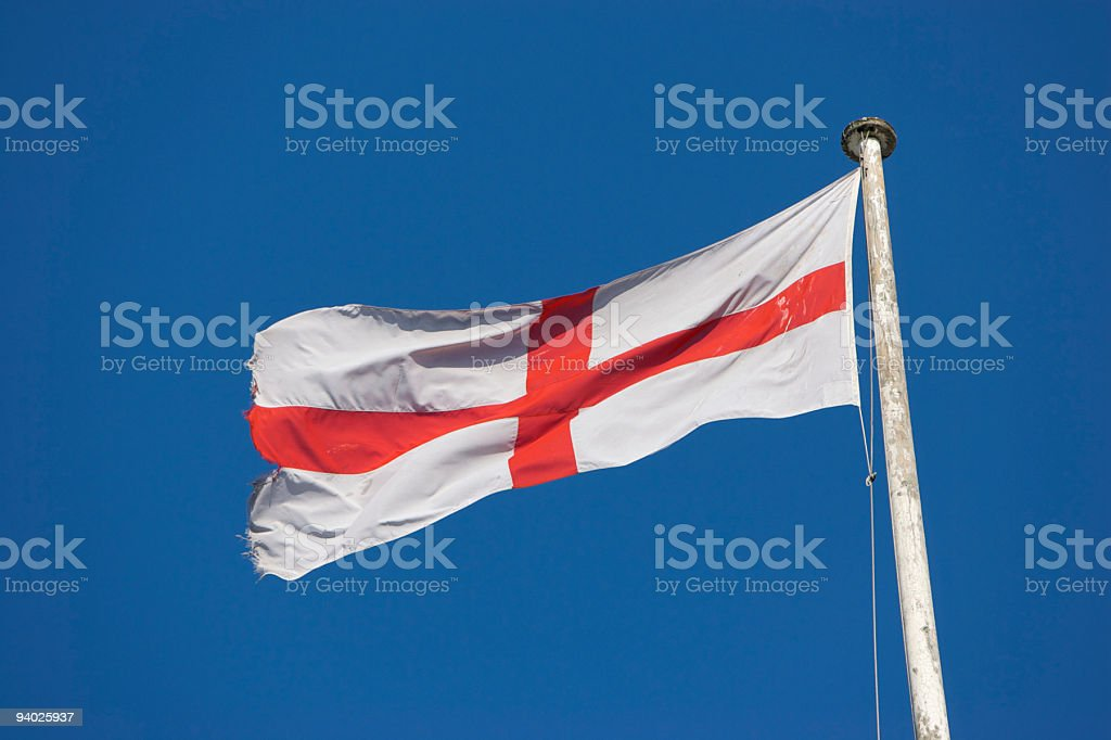 St George's Cross - Flag of England royalty-free stock photo