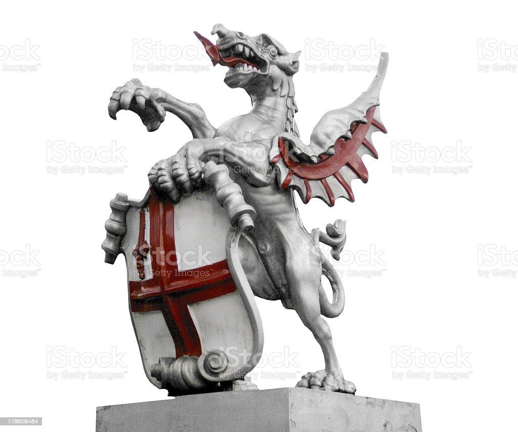 St George's dragon stock photo