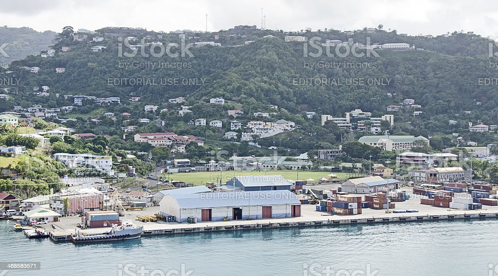 St. George's Grenada Waterfront stock photo