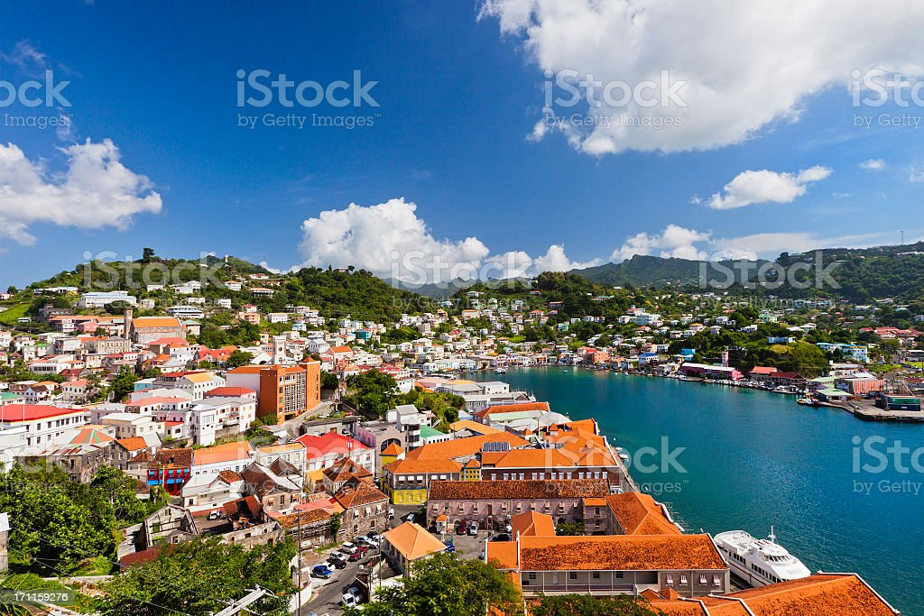 St. George's, Grenada W.I. royalty-free stock photo