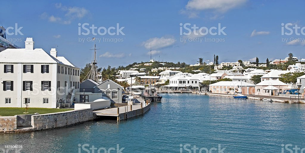 St. Georges Harbor, Bermuda stock photo