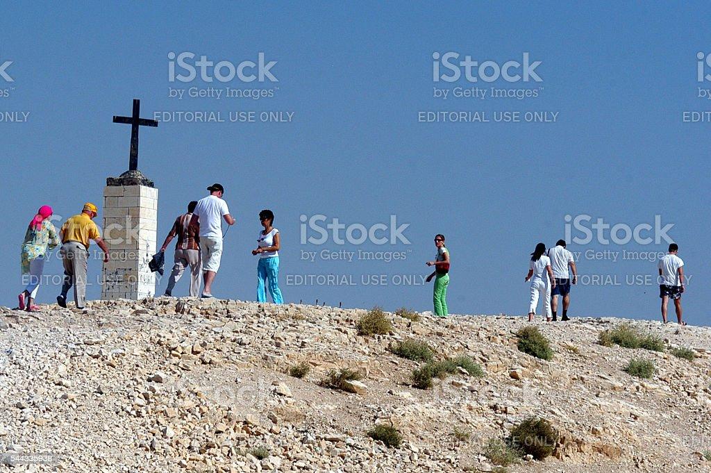 St. George's Monastery Cross stock photo