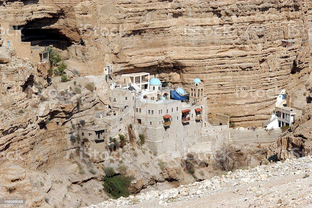 St. George's Monastery in Judea Desert Israel stock photo