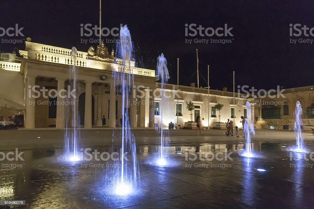 St George's Square, the main square of Valletta stock photo