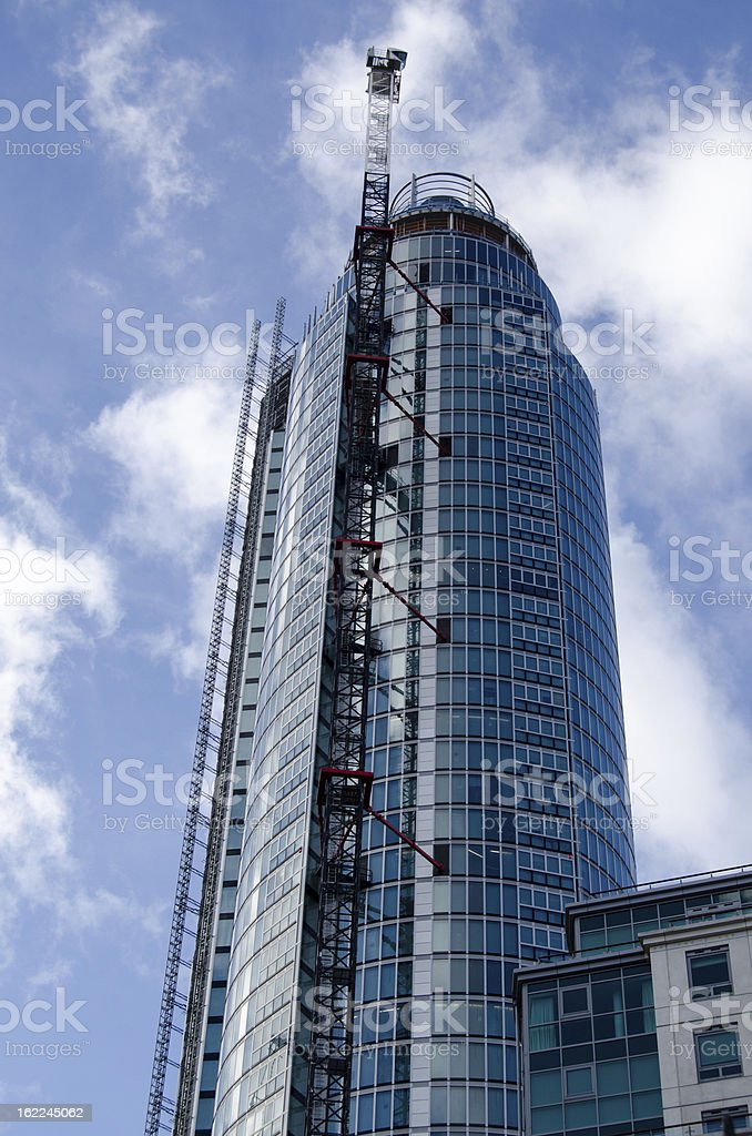 St Georges Wharf Tower, Vauxhall stock photo