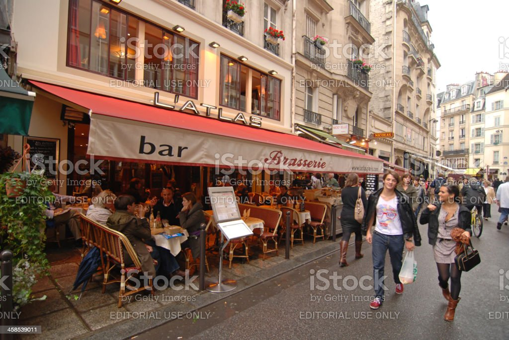 St Germain des Pres Quarter, Paris royalty-free stock photo