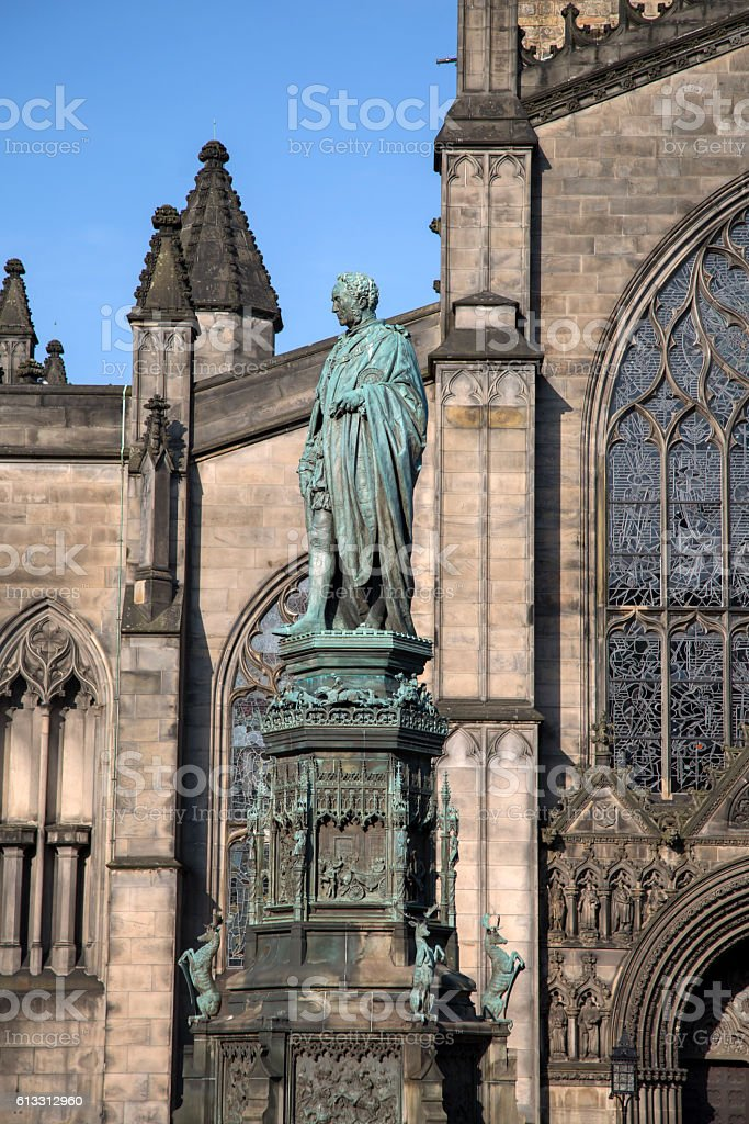 St Giles Cathedral Church; Royal Mile; Lawnmarket; Edinburgh stock photo