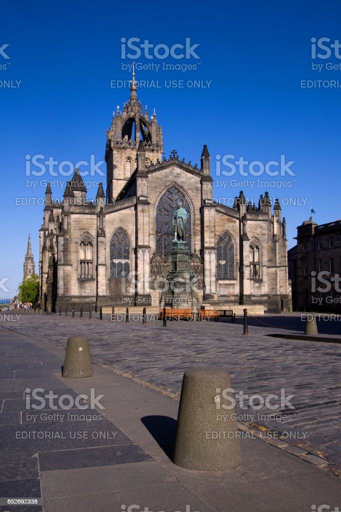 The Royal Mile, Edinburgh, Scotland - May 3, 2011: St Giles Cathedral stock photo