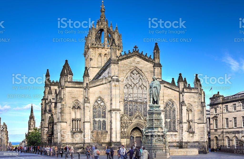 St Giles Cathedral, Royal Mile, Edinburgh, United Kingdom. stock photo