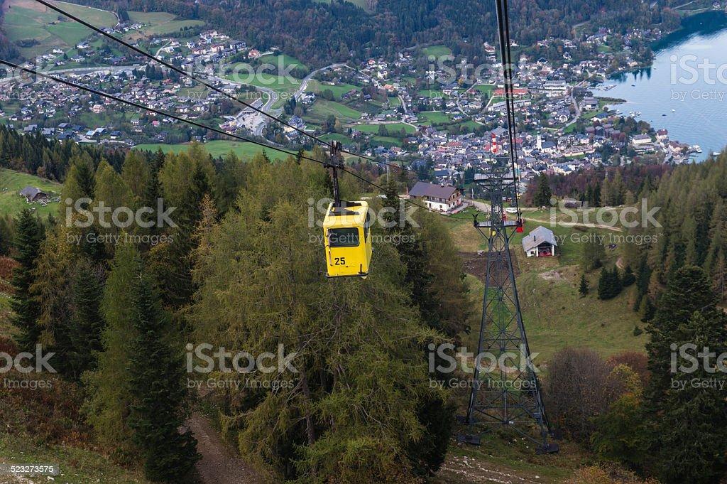 St. Gilgen Cable Car stock photo
