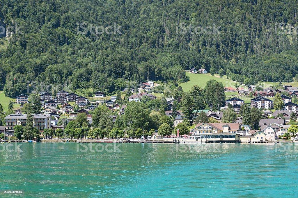 St. Gilgen on Wolfgangsee lake , Austria stock photo