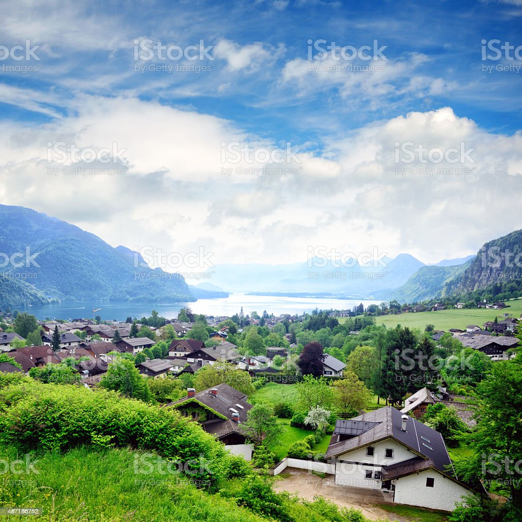 St. Gilgen village, Austria stock photo