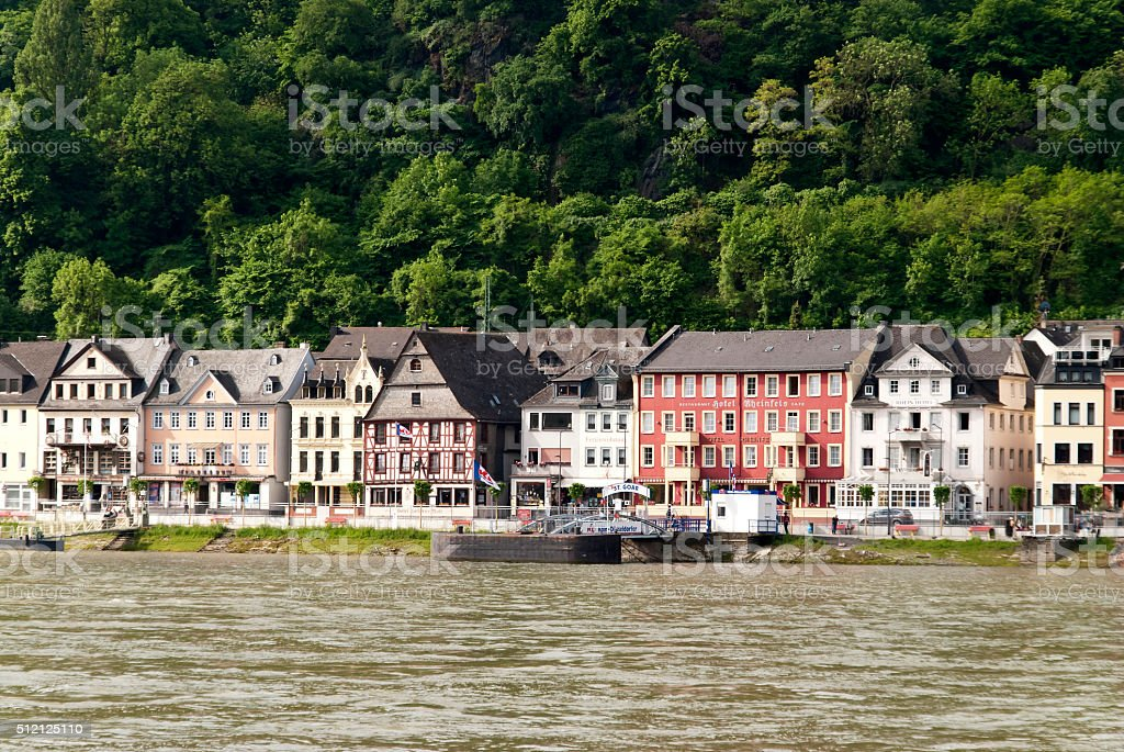 St. Goar at the Rhine stock photo