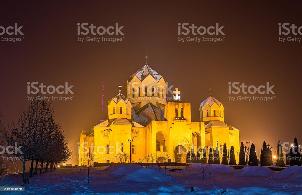 St. Gregory the Illuminator cathedal in Yerevan stock photo