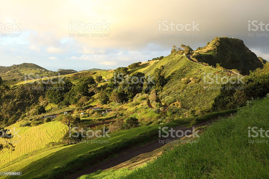 St Helena Island Blue Hill district in the late afternoon stock photo