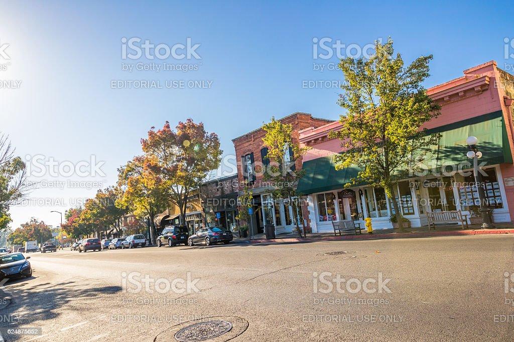 St. Helena, Napa Valley, California, USA stock photo
