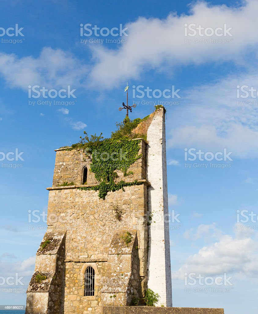 St. Helen's old church tower Isle of Wight 13th century stock photo