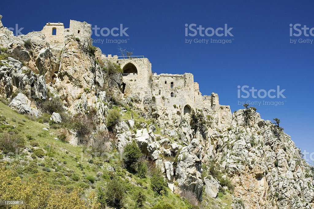 St Hilarion Castle stock photo