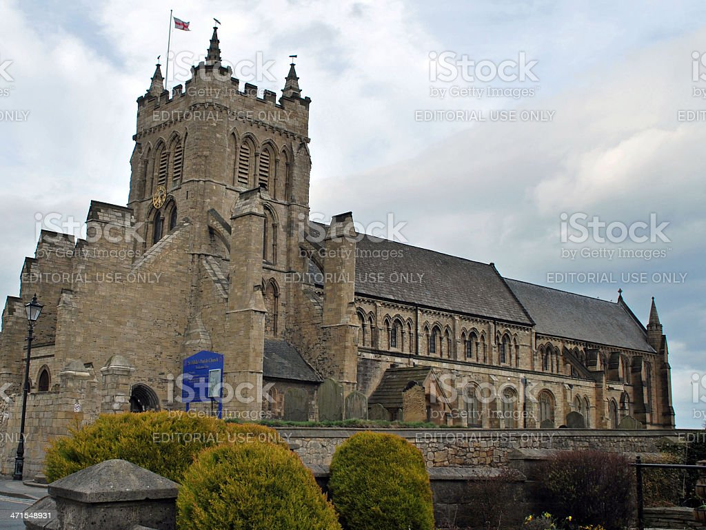 St. Hilda's Church Hartlepool royalty-free stock photo