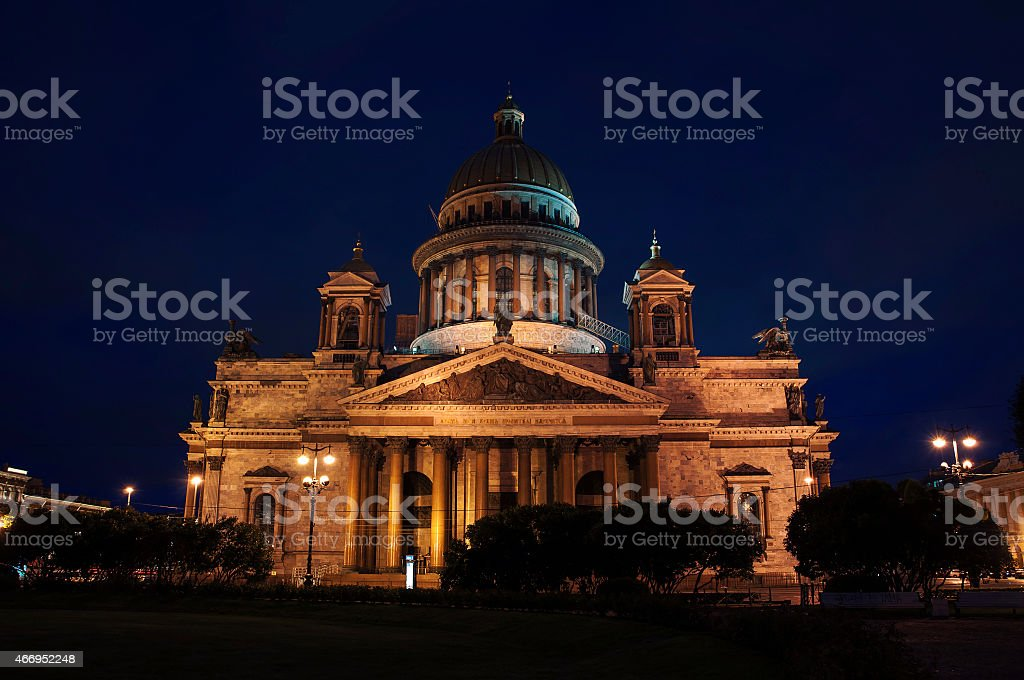 St Isaac Cathedral stock photo
