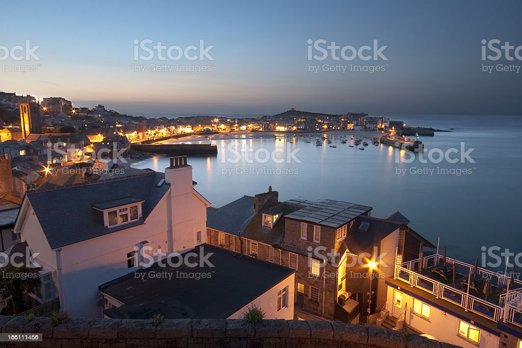 St Ives at Twilight stock photo