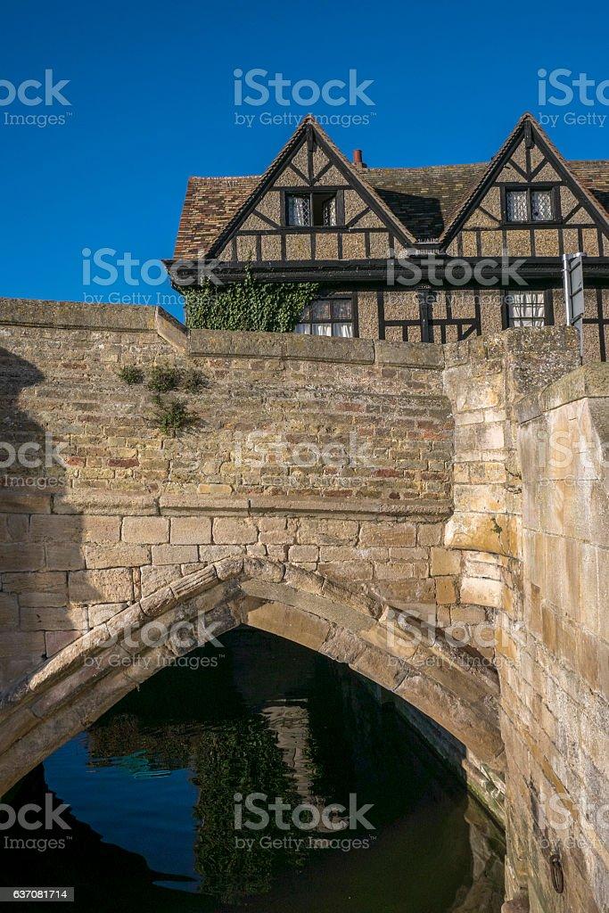 St Ives Bridge, Cambridgeshire, England. stock photo