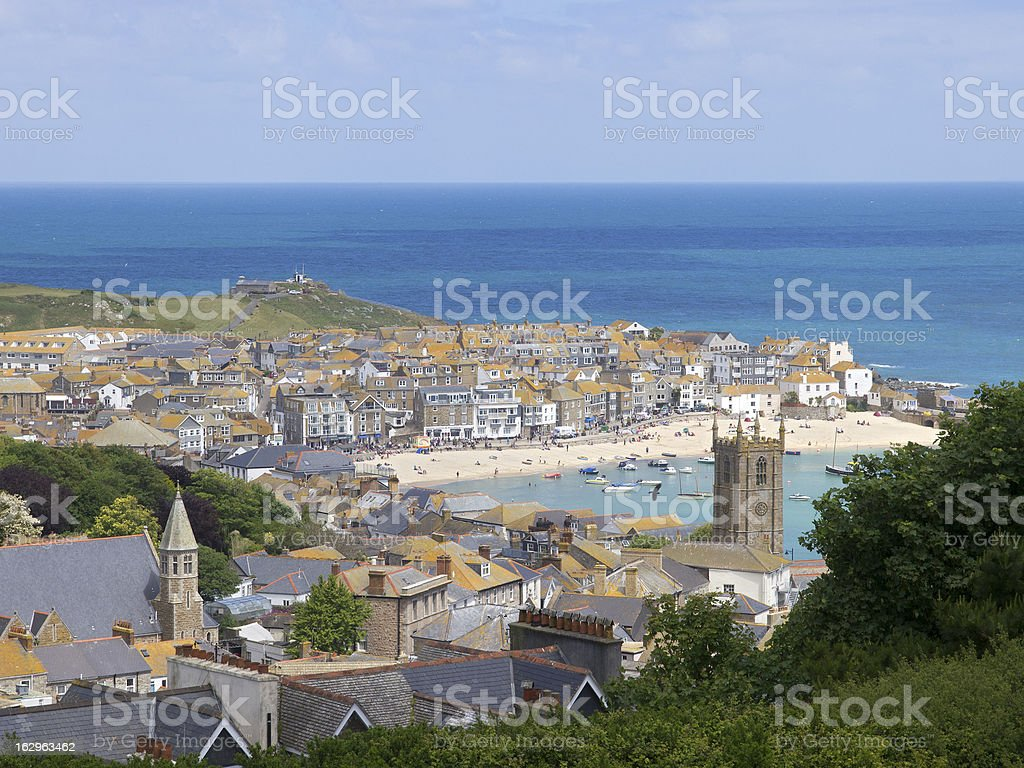 st ives cornwall, city and port royalty-free stock photo