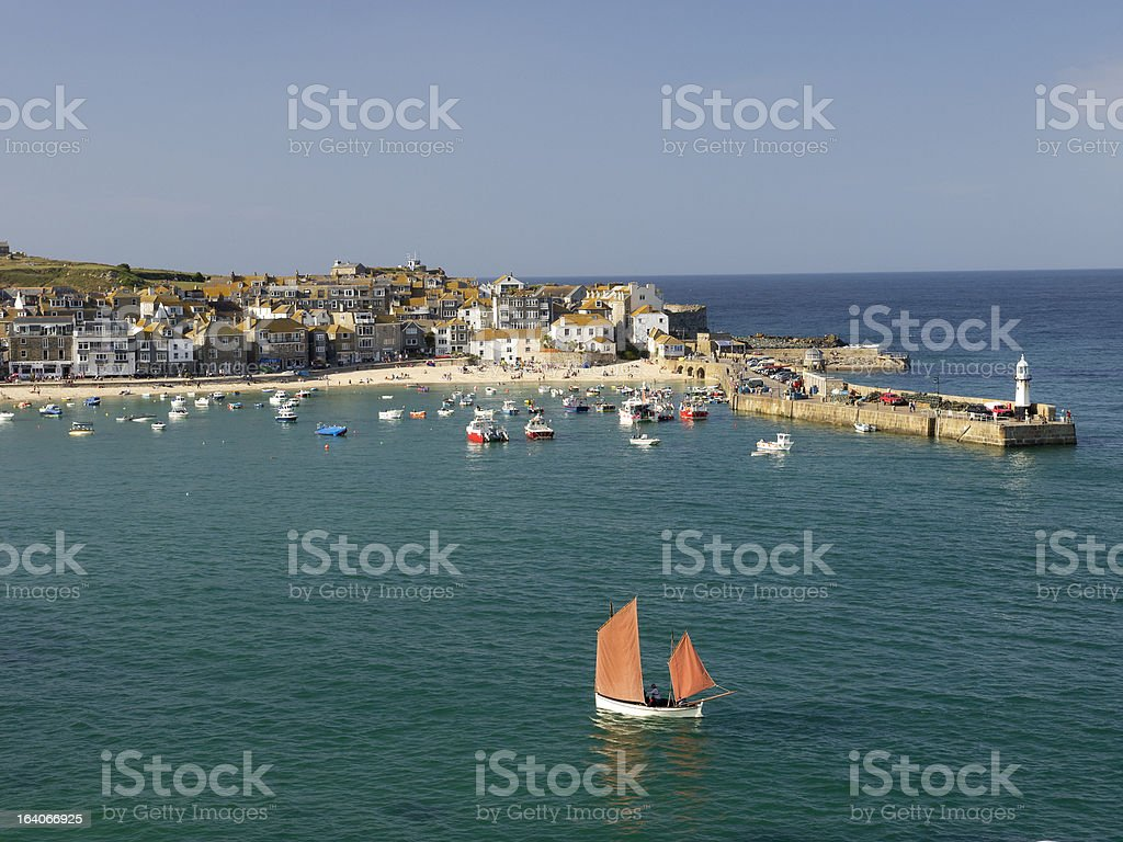 st ives cornwall royalty-free stock photo