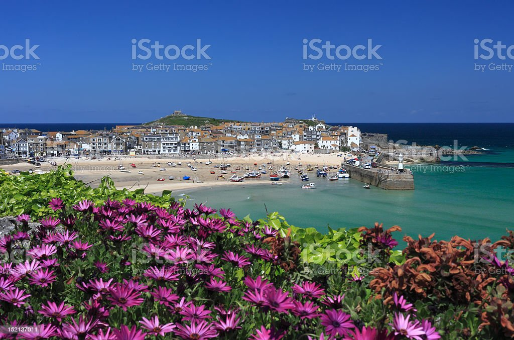 St Ives from the Malakoff stock photo
