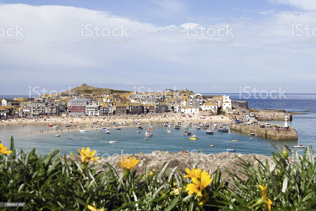 St Ives Harbour stock photo