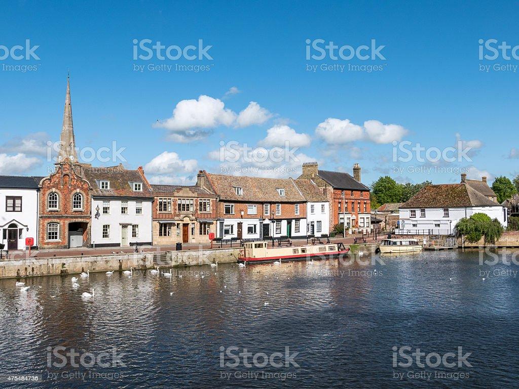 St. Ives in Cambridgeshire, UK stock photo